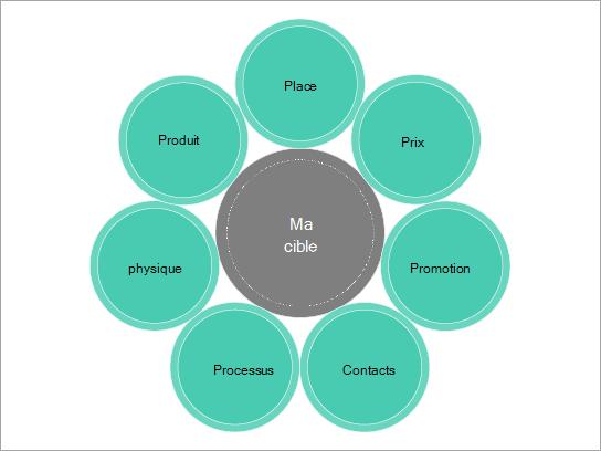 Modèle Diagramme simple pour une campagne marketing