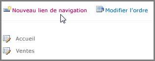 Nouveau lien de navigation