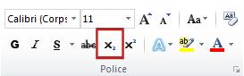 commande Indice du groupe Police