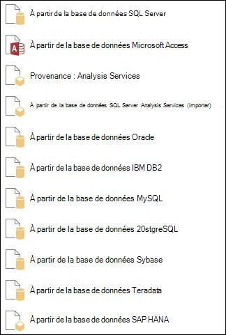 Obtenir des données à partir d'une base de données