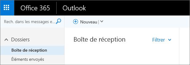 Apparence du ruban dans Outlook sur le web.