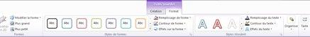 Onglet Format des outils SmartArt
