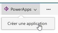 PowerApps, puis cliquez sur créent une application.