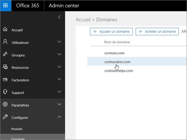 OVH Sélectionnez votre domaine dans Office 365_C3_20176917563