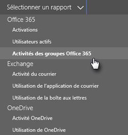 Sélectionner un état - Groupes Office365