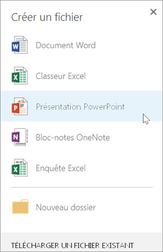 Créer une présentation PowerPoint