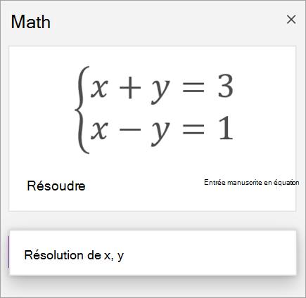 Équation de systèmes écrite entre crochets