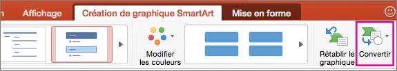 PowerPoint pour Mac - Convertir un graphique SmartArt en texte