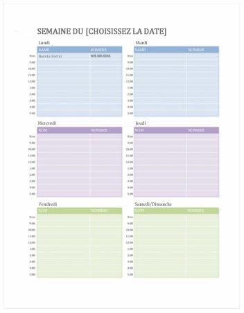 Calendrier Format Excel.Modeles Gratuits De Calendriers Hebdomadaires Sur Office Com