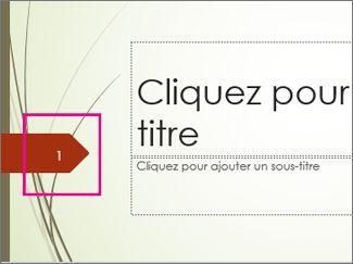 Thème Brin avec numéro de diapositive