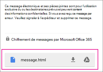 Visionneuse OME avec Gmail sur Android 1