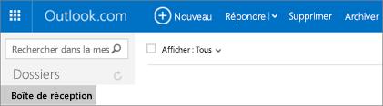 Apparence du ruban dans Outlook.com ou Hotmail.com