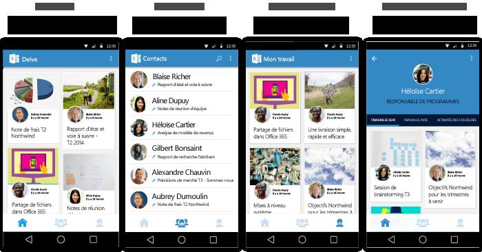 Écrans de Delve pour Android
