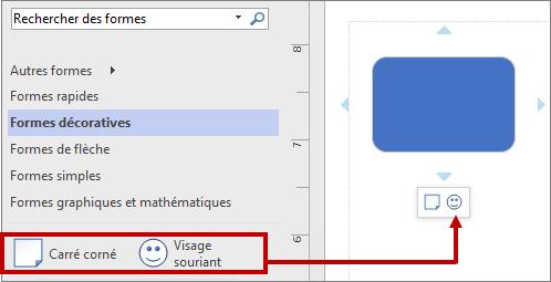 Mini-barre d'outils: utilisation d'un autre gabarit par réorganisation