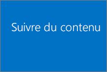 Suivre du contenu dans votre bibliothèque OneDrive Entreprise ou SharePoint