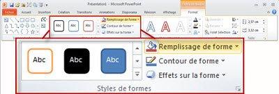 Onglet Affichage dans le ruban PowerPoint 2010.