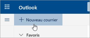 Capture d'écran du bouton Nouveau message
