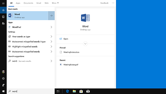 Trouver Vos Applications Office Dans Windows 10