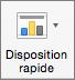 Dans l'onglet Création de graphique, sélectionner Disposition rapide