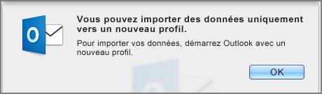 Erreur d'importation