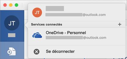 Présente l'option Se déconnecter d'Office en mode Backstage dans Office pour Mac