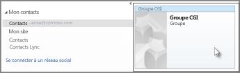 Double-cliquer sur le groupe de contacts