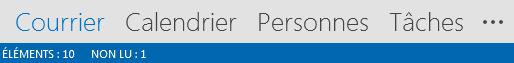 L'onglet Contacts se trouve en bas de l'écran Outlook.