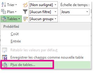 Image Plus de tables