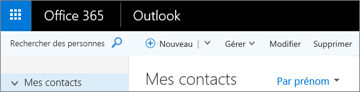Apparence du ruban avec Outlook sur le web
