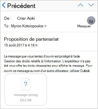 Vous ne voyez pas les messages protégés dans l'application de messagerie iOS si votre administrateur ne le n'a pas autorisé.