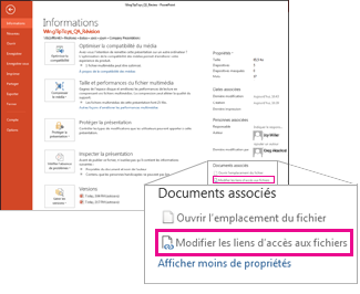 Modifier des liens vers des fichiers