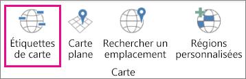 Option Étiquettes de carte dans Cartes3D
