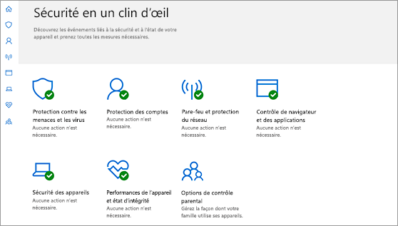 Centre de sécurité WindowsDefender