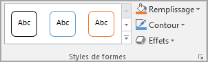 Groupe Styles de formes Word