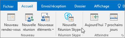 Planifier une réunion SkypeEntreprise