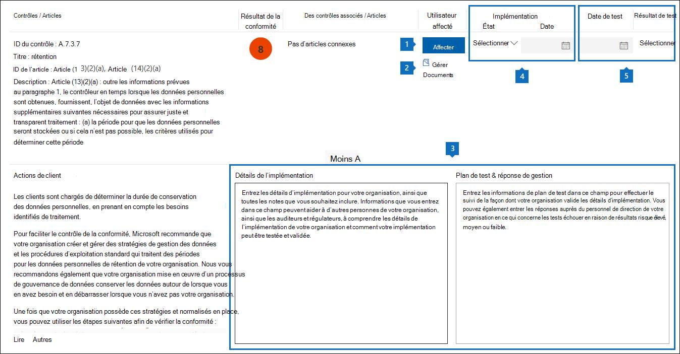 Fonctionnalités de gestion de flux de travail dans un contrôle géré par le client