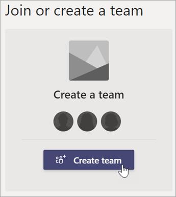 Créer une équipe