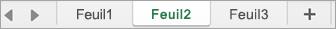Onglets de feuille dans Excel