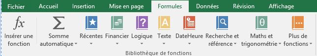 Groupe Bibliothèque de fonctions