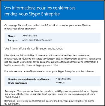 Message électronique de conférence rendez-vous