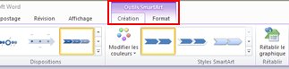 SmartArt Tools appears, and the Design tab is added to the ribbon.