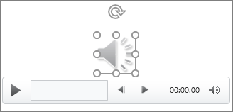 L'icône audio et des contrôles