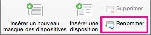 PowerPoint pour Mac - Commande Renommer le masque des diapositives