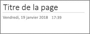 Renommer une page dans OneNote pour le Web