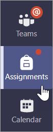 Application devoirs dans la barre de l'application.