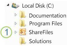 Icône Dossier partagé dans l'Explorateur Windows
