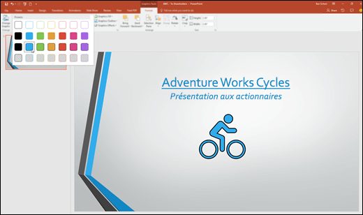 Modifier l'apparence de votre image SVG dans PowerPoint2016 à l'aide de la galerie de styles