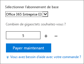 Modifier la quantité de licences utilisateur d'un composant additionnel.