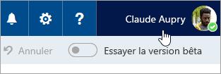 Capture d'écran du bouton d'image de profil