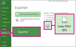 Image du bouton Créer PDF/XPS